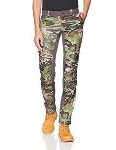 f31bb15977e20 Under Armour Women's Fletching Pants, Ua Forest Camo (940)/Metallic Beige,