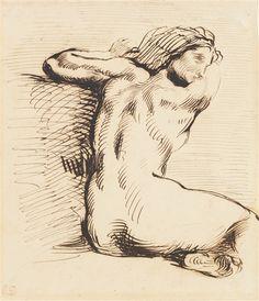 Eugène Delacroix, ETUDE DE FEMME (PROBABLEMENT POUR LA MORT DE SARDANAPALE), 1850