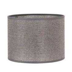 Abat+jour+cylindre+en+coton+avec+paillettes+pour+culot+E27+Shine