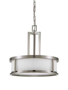 Nuvo Lighting 60 2857 Four Light Down Pendant From The Odeon Collection Brushed Nickel