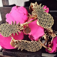 Gold Pineapple Bangle by Bourbon & Boweties Cute Jewelry, Jewelry Box, Jewelery, Jewelry Accessories, Pineapple Jewelry, Gold Pineapple, Diamond Are A Girls Best Friend, Passion For Fashion, Bangles