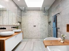 'Minimal Interior Design Inspiration' is a weekly showcase of some of the most perfectly minimal interior design examples that we've found around the web - all Ensuite Bathrooms, Bathroom Renos, Laundry In Bathroom, Simple Bathroom, Modern Bathroom, Bathroom Ideas, Bathroom Designs, Bathroom Showers, Bathroom Goals
