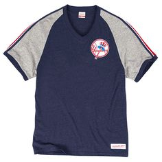 New York Yankees Mitchell & Ness Race to the Finish Vintage Tri-Blend T-Shirt - Navy - $39.99
