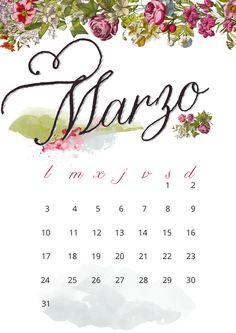 imprimible: calendario de marzo