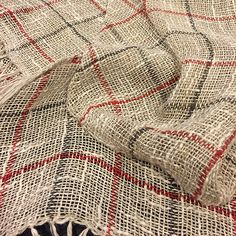 Barbara Pickel - handwoven scarf in linen and cotton