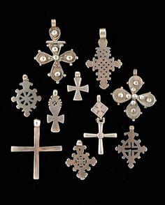 Lot de 10 croix Argent Ethiopie PT: 170 gr - Pierre Bergé & associés - 05/06/2008