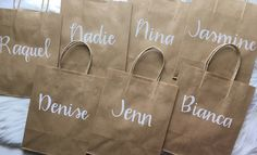 Bridesmaid Gift Bags, Bridesmaids, Paper Bags, Paper Gifts, True Shop, Personalized Gift Bags, Team Bride, Gifts For Wedding Party, Maid Of Honor