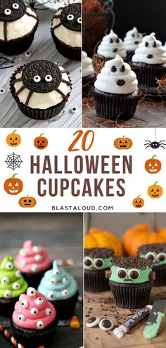20 Easy Halloween Cupcake Decorating Ideas For Kids And Adults Alike Make your Halloween Party even more special with these spooy and delicious Halloween Cupcakes. Here are best Halloween Cupcakes Recipes for you. Muffin Halloween, Menu Halloween, Recetas Halloween, Dessert Halloween, Easy Halloween, Halloween Treats, Halloween Parties, Halloween Cupcakes Decoration, Halloween Cupcakes Easy