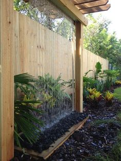 Modern Water Feature, Diy Water Feature, Backyard Water Feature, Small Backyard Landscaping, Backyard Garden Design, Landscaping Ideas, Water Fountain Design, Water Fountains, Design Fonte