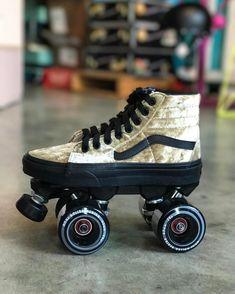 """1,893 Likes, 49 Comments - Moxi Roller Skate Shop (@moxiskateshop) on Instagram: """"Straight crushing on these velvet Vans roller skates #MadeAtMoxi #vansskates #customskates…"""""""