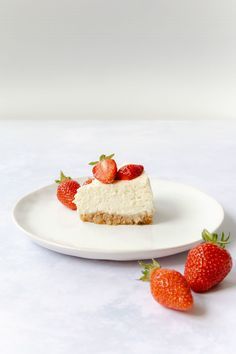 American Cheesecake, International Recipes, No Bake Cake, Baking Recipes, Panna Cotta, Delish, Sweet Treats, Good Food, Strawberry