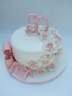 Lilac And Pink Th Ladies Cake Cakes Pinterest Pink Lady - Birthday cakes 70th ladies
