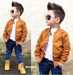 Ideas For Baby Clothes Swag Jackets Toddler Boy Fashion, Little Boy Fashion, Toddler Boy Outfits, Fashion Kids, Trendy Fashion, Swag Fashion, Fashion Clothes, Boys Summer Outfits, Little Boy Outfits
