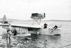 Возвращение из боевого полета на базу гидросамолёта морской разведки. Июнь 1943 г.