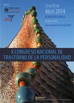 Entre los días 23 y 25 de abril del 2014 celebraremos en Barcelona el X Congreso Nacional sobre Trastornos de la Personalidad http://www.geyseco.es/cntp2014/