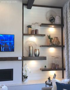 Great Images Fireplace Remodel Ideas 4 Passionate Cool Tips: Open Fireplace Loft fireplace garden home decor. Floating Fireplace, Slate Fireplace, Fireplace Seating, Fireplace Bookshelves, Fireplace Cover, Freestanding Fireplace, Home Fireplace, Fireplace Remodel, Living Room With Fireplace