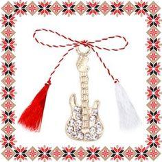 Martisor Pandantiv Chitara Aurie Tassel Necklace, Tassels, Jewelry, Jewlery, Jewerly, Schmuck, Jewels, Tassel, Jewelery