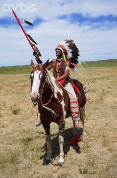 Sioux Warrior at Custer's Last Stand Reenactment