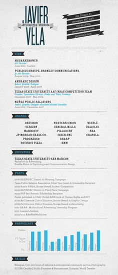 My Resumé by Javier Vela, via Behance