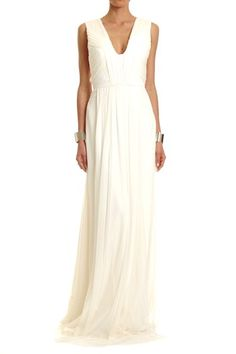 Simple and beautiful - SILK TULLE LOW NECK GOWN - Lisa Ho