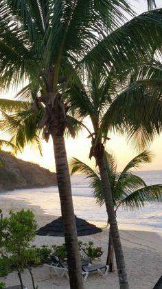 Morning view from a beachfront room balcony at Galley Bay Resort & Spa via @tripadvisorus
