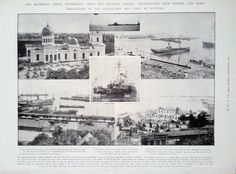 """1905 PRINT PHOTOGRAPHS FROM ODESSA OF THE MUTINOUS """"KNIAZ POTEMKIN"""""""