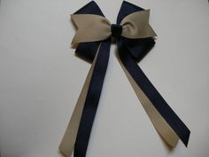 Hey, I found this really awesome Etsy listing at https://www.etsy.com/listing/152361828/khaki-dark-navy-blue-hair-bow-back-to