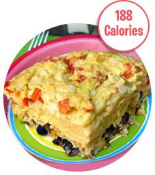 El Ginormo Southwest Oven-Baked Omelette    1/4th of recipe (1 large piece): 188 calories, 3g fat, 590mg sodium, 17g carbs, 2.5g fiber, 5g sugars, 22g protein -- PointsPlus® value 4*