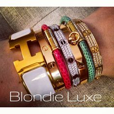 735b0566a47f Blondie Luxe   not messing around  armor  armparty  armswag  wristcandy   bracelets  stack  ...   Webstagram - the best Instagram viewer