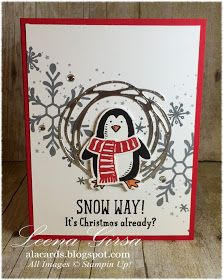 Holly Jolly and Snow Place/Snow Friends meet Swirly Scribbles | A La Cards: 12 Days of Christmas in July Day 10