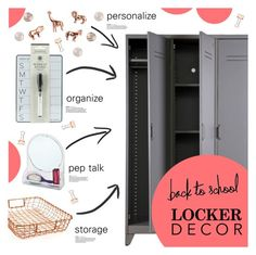"""Decorate Your Locker"" by chakragoddess ❤ liked on Polyvore featuring interior, interiors, interior design, home, home decor and interior decorating"