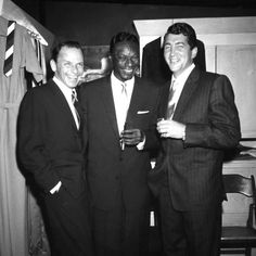 Frank Sinatra, Nat King Cole and Dean Martin