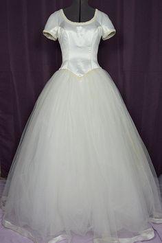 1990s Ball Gown w Tulle Skirt & Satin Bodice.  $300.00 www.vintagewedding.com