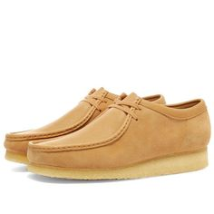 Buy the Clarks Originals Wallabee in Light Tan Combi from leading mens fashion retailer END. - only Fast shipping on all latest Clarks Originals products Clarks Originals, The Originals, What Is Dope, Oxford Shoes, Dress Shoes, Product Launch, Lace Up, Footwear, Mens Fashion
