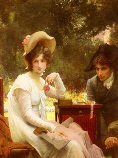 Marcus Stone  (British, 1840-1921)  - In Love