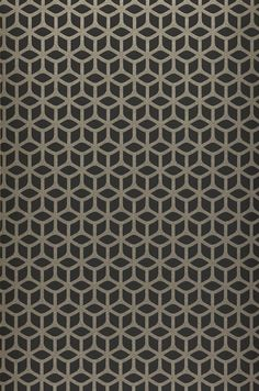 The glass bead pattern of this black wallpaper reminds us of the simple beauty of honeycomb. The pearls shimmer in an elegant silver-grey and provi. Textile Pattern Design, Textile Patterns, Pattern Art, Abstract Pattern, Beading Patterns, Print Patterns, Wallpaper Samples, Home Wallpaper, Black Wallpaper