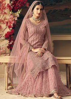 Looking to buy salwar kameez? ✓ Shop the latest dresses from India at Lashkaraa & get a wide range of salwar kameez from party wear to casual salwar suits! Nikkah Dress, Pakistani Formal Dresses, Shadi Dresses, Pakistani Wedding Dresses, Pakistani Dress Design, Pakistani Gowns, Lehnga Dress, Gown Dress, Indian Wedding Gowns