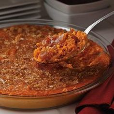 Heavenly Sweet Potato Casserole Allrecipes.com  Think about adding Apple Butter to other recipe