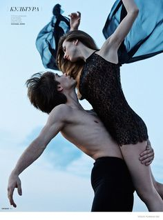 Ballet Dancers Anna & Artem Pose for Marian Sell in Vogue Russia Shoot