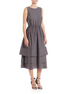 Brunello Cucinelli - Tiered Midi Dress