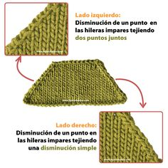 Disminuyendo puntos - Tejiendo Perú Baby Knitting Patterns, Baby Cardigan Knitting Pattern, Knitting Stiches, Cable Knitting, Crochet Stitches, Stitch Patterns, Crochet Patterns, Free Crochet, Knit Crochet