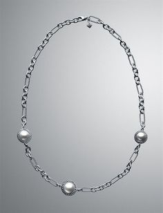 Pearl Cable Wrap Chain Necklace
