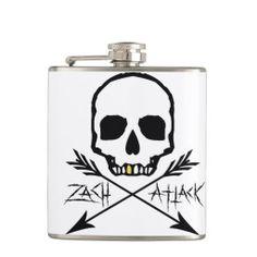 Skull & Crossbows Flask by ZachAttack design