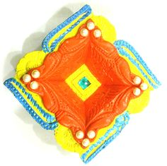Yellow Square Diya
