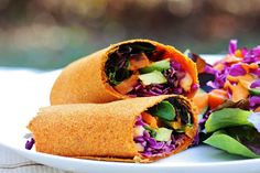 Raw Carrot Cumin Wraps - great use for carrot pulp after juicing
