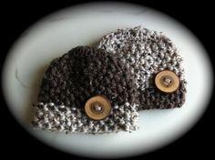 Newborn Boy Beanie w/Real Wood Button by dcoycrochetsforyou, $19.00