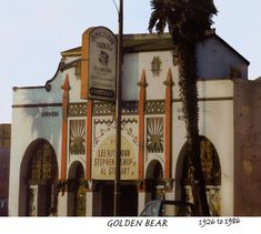 Golden Bear Photo and Information about the Huntington Beach California Concert Hall, Restaurant and List of Performers