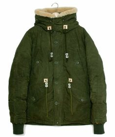 SNOW-PEAK-Waxed-Cotton-Down-Jacket-Mods-Coat-Olive-sz-L-New-outdoor-camping