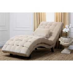 @Overstock.com - Abbyson Living Soho Cream Fabric Chaise - This cream-fabric chaise is sure to make a fashionable statement in your home or office. This chaise features an elegant, curved back and seat, a luxurious oak finish, and beautiful cream upholstery that completes its classy and modern look.  http://www.overstock.com/Home-Garden/Abbyson-Living-Soho-Cream-Fabric-Chaise/6185340/product.html?CID=214117 $598.99