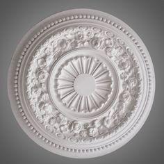 Ceiling Rose 251 - Acanthus-Ball-Flower - Ossett Mouldings Ltd Ceiling Rose, Acanthus, Decorative Plates, Roses, Tableware, Flowers, Design, Home Decor, Dinnerware
